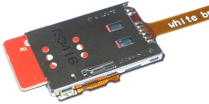 SIM card holder on flex-PCB