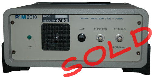 PMM 8010 30MHz Signal analyzer